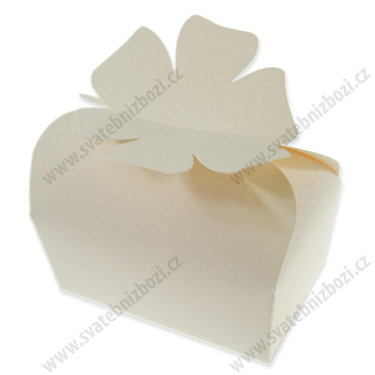 5835e6be03 Svatební krabičky na koláčky  KRUMLOV  - krémová (80x50x40mm