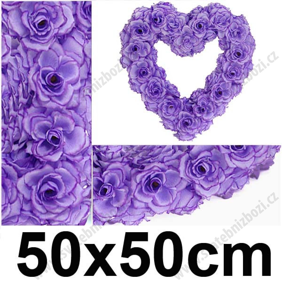 Svatebni Dekorace Srdce 50x50 Cm Lila