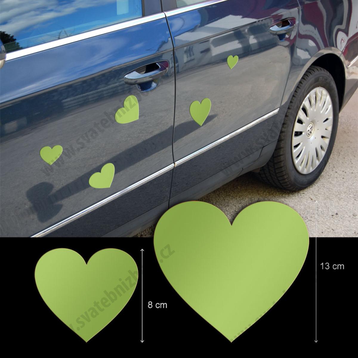 Srdicka Magneticka Zelena 5 Ks Bal Zelene Svatebni Dekorace