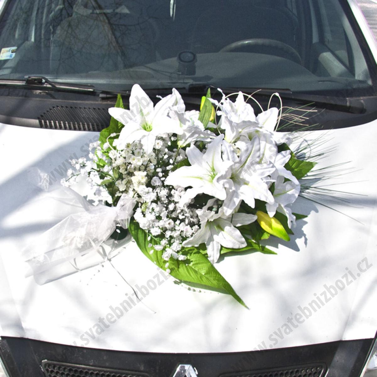 Pronajem Dekorace Na Auto Bile Lilie 1 Ks Pujcovna Svatebni
