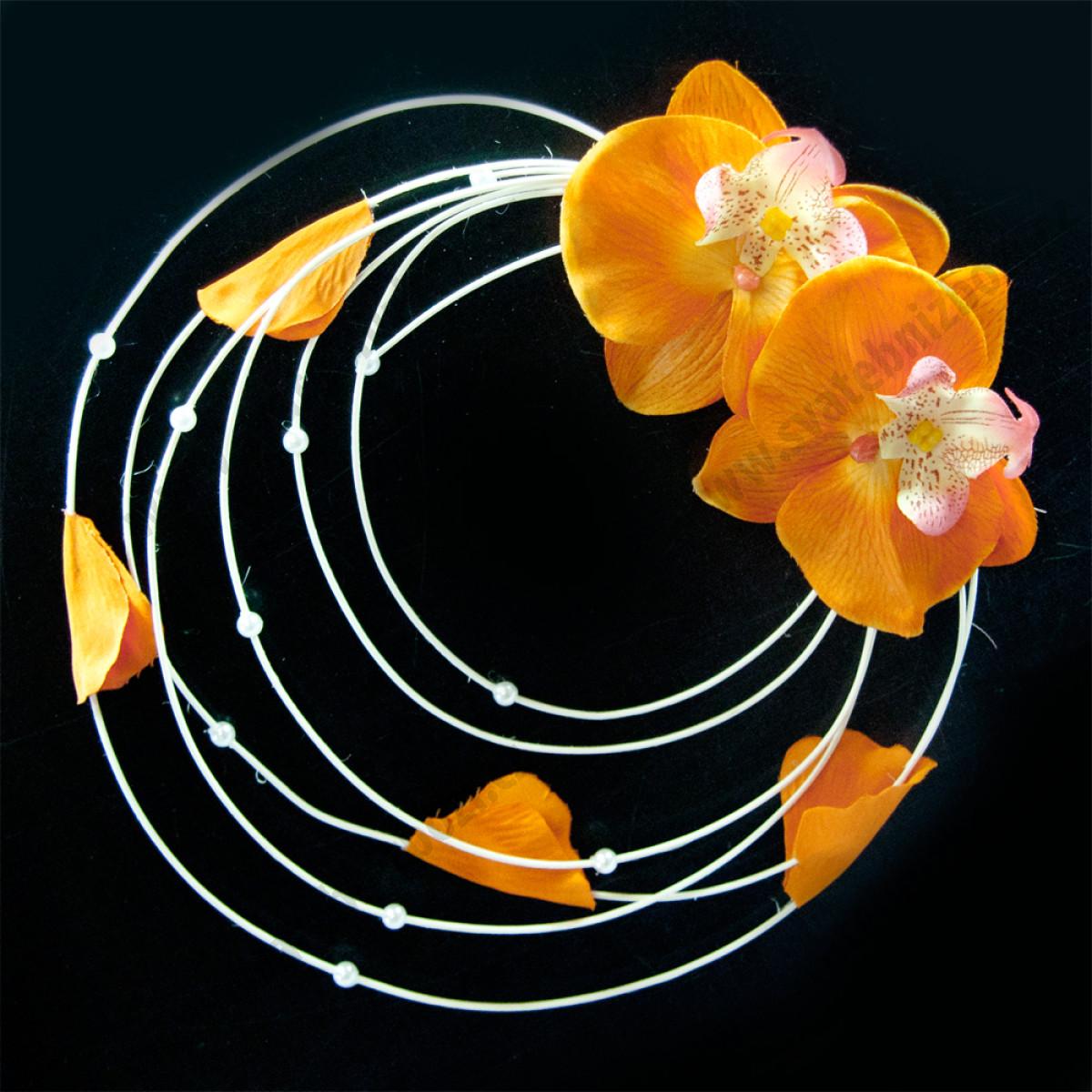 Dekorace Na Auto Orchidej Oranzova 1 Ks Svestkova Leonie